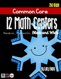 MATH STATIONS - Black and White - Grade 2 - JANUARY