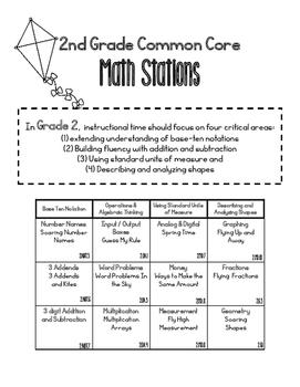 MATH STATIONS - Black and White - Grade 2 - MAY