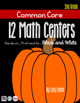 MATH STATIONS - Black and White - Grade 2 - OCTOBER