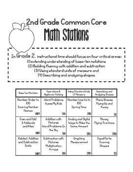 MATH STATIONS - Black and White - Grade 2 - SEPTEMBER
