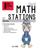 MATH STATIONS - Common Core - Grade 1 - APRIL