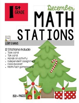 MATH STATIONS - Common Core - Grade 1 - DECEMBER