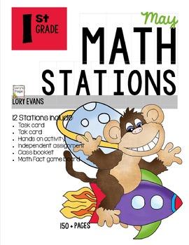 MATH STATIONS - Common Core - Grade 1 - MAY
