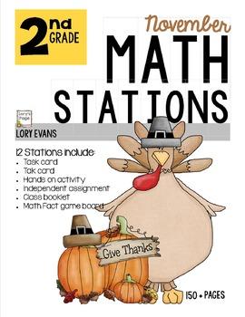 MATH STATIONS - Common Core - Grade 2 NOVEMBER