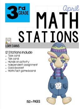 MATH STATIONS - Common Core - Grade 3 - APRIL