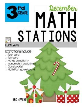 MATH STATIONS - Common Core - Grade 3 - DECEMBER