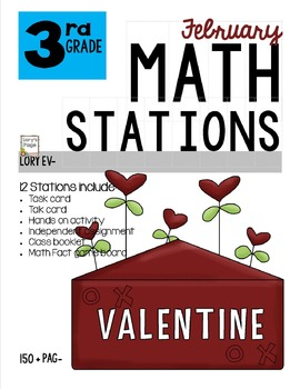 MATH STATIONS - Common Core - Grade 3 - FEBRUARY