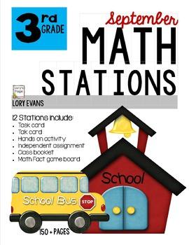 MATH STATIONS - Common Core - Grade 3 - SEPTEMBER