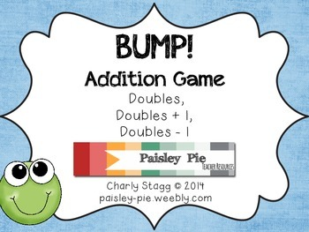 MATH STATIONS: Doubles BUMP! Game (doubles, +1,-1)