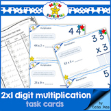 2 by 1 Digit Multiplication - TASK CARDS 1