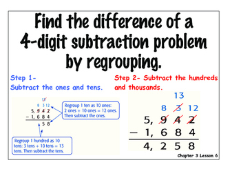 MATH: Subtraction vocabulary cards and strategy charts! PRINTABLE and IN COLOR!