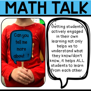 MATH TALK--Posters and Bookmarks--10 Discussion Starters & 10 Question Stems