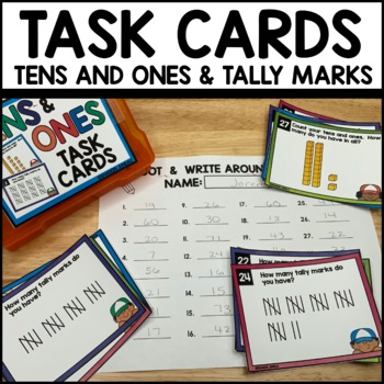 TENS and ONES MATH TASK CARDS