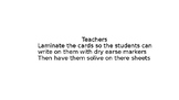 MATH TASKCARDS
