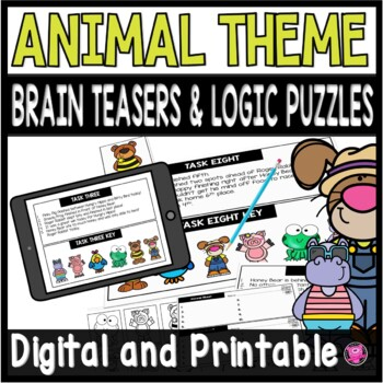 Math Logic Puzzles for Third Using the Eight Math Practices