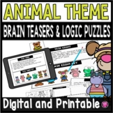 End of Year Math Logic Puzzles