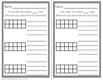 MATH TASKS: Number Sense & Fact Fluency