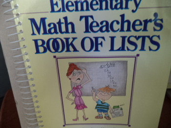 MATH TEACHER'S BOOK OF LISTS ISBN 0-87628-289-3