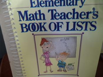 MATH TEACHER'S BOOK OF LISTS ISBN 0-87628-289-3