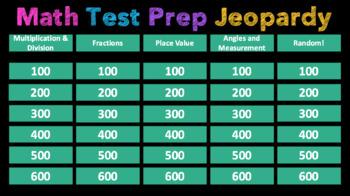 TEST PREP JEOPARDY MATH (4TH GRADE)