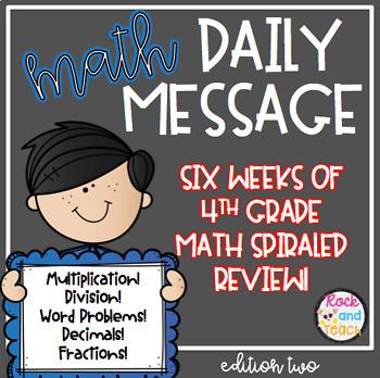 Math Test Prep: Morning Message Edition 2