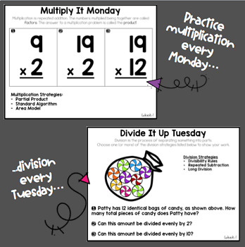 Math Warm Up Spiraled Review: Edition 2