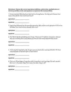 MATH TEST PREP- REVIEW PACK (based on common core standards)