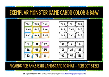 TIMES TABLES 1-12 CARDS