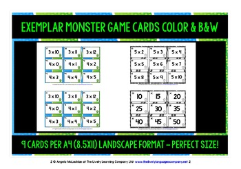 TIMES TABLES 1-6 CARDS