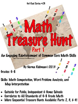 MATH TREASURE HUNT  LESSON FOR ENGAGING COMMON CORE MATH AND WORD PROBLEM SKILLS