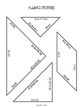 MATH - Tangram Math Review Puzzles