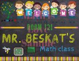 MATH Teacher Classroom Door Sign, Printable Classroom Sign