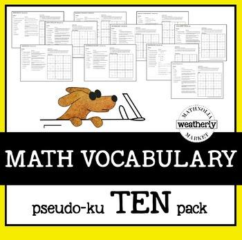 MATH VOCABULARY Pseudo-Ku Puzzles