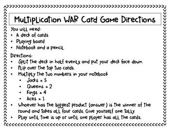 MATH WAR: Multiplication Practice Game
