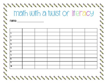 MATH WITH A TWIST OF LITERACY
