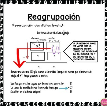 MATH WORD POSTERS IN SPANISH