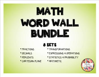MATH WORD WALL BUNDLE - 8 SETS!