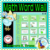 MATH WORD WALL Math Vocabulary Focus Wall TWEET Bird Theme Classroom Decor