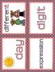 MATH WORD WALL: Coral & Navy, Math Vocabulary, Focus Wall