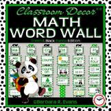 MATH WORD WALL Math Vocabulary Focus Wall Green Panda Theme Classroom Decor