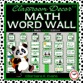 MATH WORD WALL Math Vocabulary Focus Wall Green Panda Theme Classroom Decor