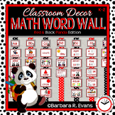 MATH WORD WALL Math Vocabulary Focus Wall Red Panda Theme Classroom Decor
