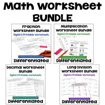 Math Worksheet Mega Bundle - Perfect for Morning Work (3 Levels)