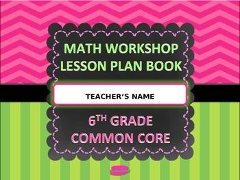 Math Workshop Lesson Plan Book Editable