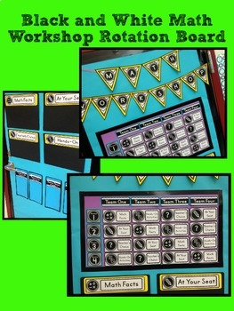 Math Centers Rotation Board Printable Display