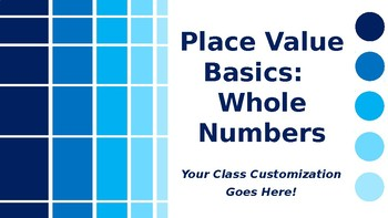 MATH Whole Number Place Value Basics: Periods, Places, Values, Forms PowerPoint