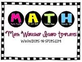MATH Workshop Templates