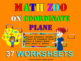Coordinate System Graphing: MATH ZOO! Drawing 37 Animals On Coordinate Plane.