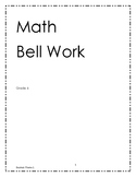 MATH bell work grade 6- Theme 1