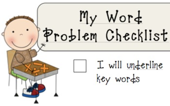 MATH common core- My Math Workshop Word Problem Checklist